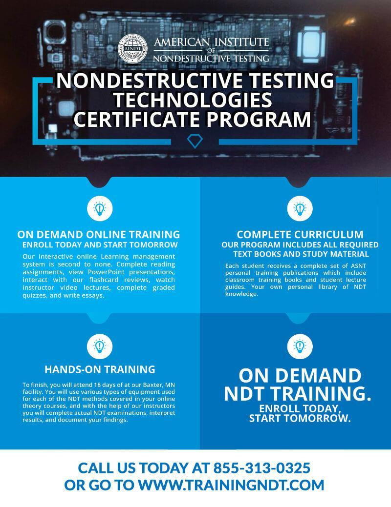 Ndt certification training ndt certification ndt certification training can be achieved online with our ndt certification program xflitez Images